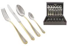 Набор столовых приборов 24 предмета на 6 персон Santorini Gold 48637
