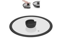 Стеклянная крышка FINA с силиконовым ободом, 26 см Nadoba 751012