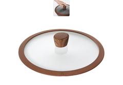 Стеклянная крышка GRETA с силиконовым ободом, 26 см Nadoba 751312