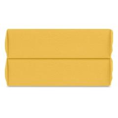 Простыня на резинке горчичного цвета из органического стираного хлопка из коллекции Essential, 160х200 см Tkano TK20-FSI0003