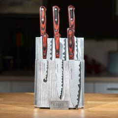 Комплект из 6 ножей Samura Kaiju и серой подставки