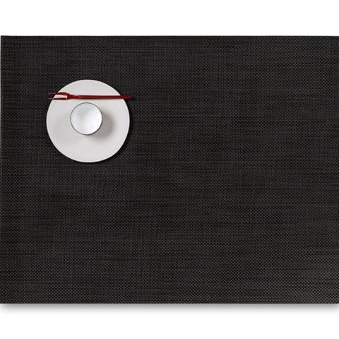 Салфетка подстановочная, жаккардовое плетение, винил, (36х48) Espresso (100132-009) CHILEWICH Mini Basketweave арт. 0025-MNBK-ESPR