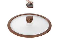 Стеклянная крышка GRETA с силиконовым ободом, 28 см Nadoba 751311