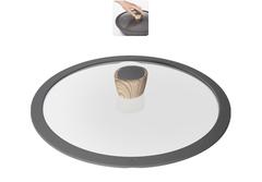 Стеклянная крышка MINERALICA с силиконовым ободом, 28 см Nadoba 751211