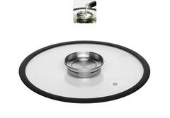Стеклянная крышка NATA с силиконовым ободом, 28 см Nadoba 751511