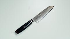 Нож кухонный Сантоку 16,5 см (193 слоя) YAXELL Super Gou Ypsilon арт. YA37201