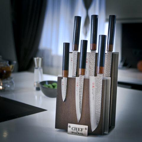 Нож кухонный стальной овощной (70мм) Suncraft Senzo 1012-06