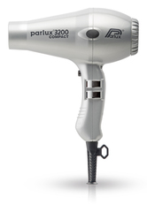 Фен Parlux 3200 Compact, 1900 Вт, 2 насадки, серебристый 0901-3200  silver
