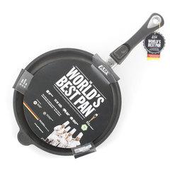 Комплект из 3 сковород AMT Frying Pans (высотой 4см) со съемной ручкой для индукции