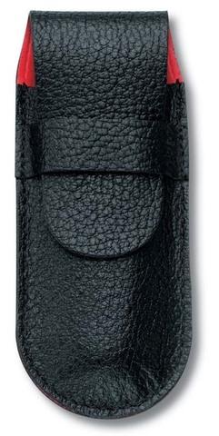 Чехол кожаный черный для ножей 91 мм, толщиной ножа 2 уровня MV-4.0736