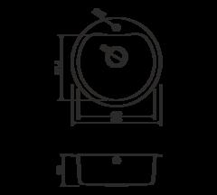 Кухонная мойка из нержавеющей стали OMOIKIRI Saroma 51-1-IN (4993007)