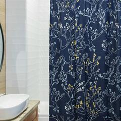 Штора для ванной с принтом 'Лесные кружева' Tkano TK18-SC0001