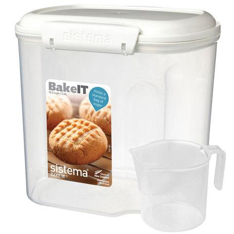 Контейнер с мерным стаканом 2,4 л Sistema BAKE-IT 1240