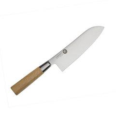 Нож кухонный стальной Сантоку (167мм) Suncraft MU-03