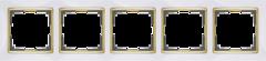 Рамка на 5 постов (белый/золото) WL03-Frame-05-white-GD Werkel