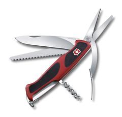 Нож Victorinox RangerGrip 71 Gardener, 130 мм, 7 функций, красный с черным 0.9713.C