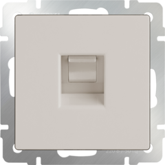 Телефонная розетка  RJ-11 (слоновая кость) WL03-RJ-11-ivory Werkel