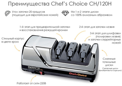 Станок для заточки ножей Chef's Choice арт. CC120HR