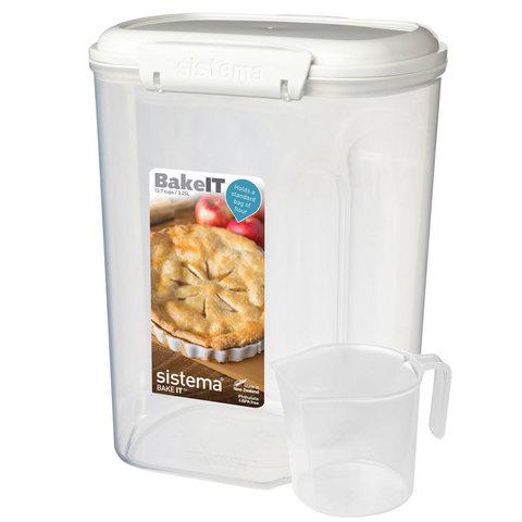 Контейнер с мерным стаканом, 3,25 л Sistema BAKE-IT 1250