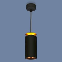 Подвесной светодиодный светильник DLS021 9+4W 4200К черный матовый/золото Elektrostandard
