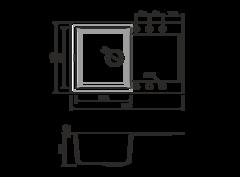 Кухонная мойка из искусственного гранита (Tetogranit) OMOIKIRI Sakaime 79-BL (4993276)