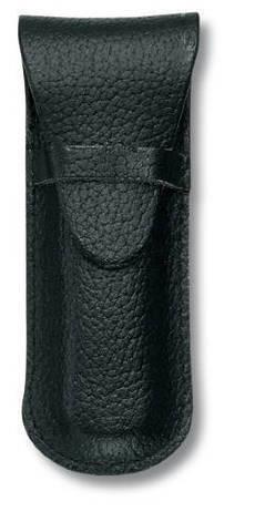 Чехол кожаный черный для Swiss Army Knives or EcoLine 84 мм, толщина ножа 2 уровня MV-4.0666