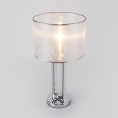 Настольная лампа с абажуром Eurosvet Fargo 01078/1 хром
