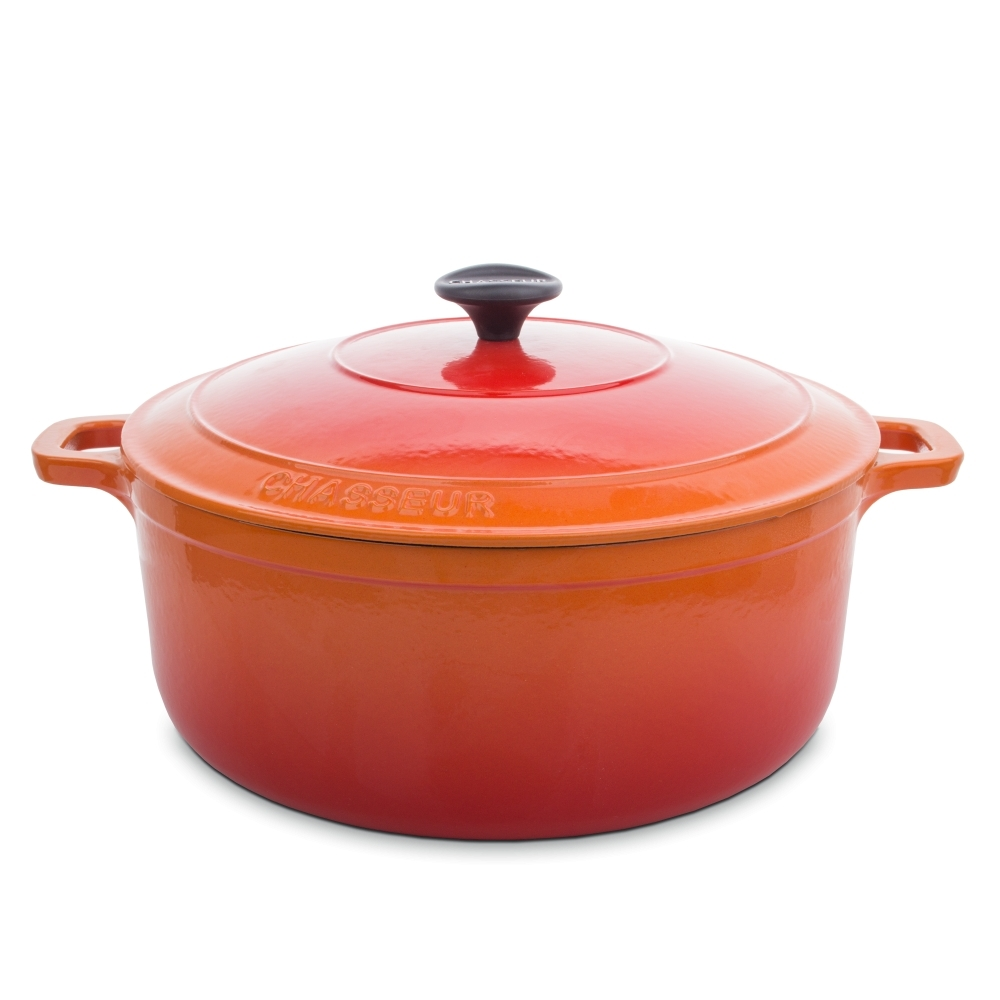 Кастрюля чугунная 28см (6,3л) CHASSEUR Orange (цвет: оранжевый) арт. 372807 фото