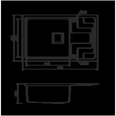 Кухонная мойка из нержавеющей стали OMOIKIRI Mizu 71-1-L (4993010)