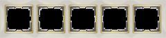 Рамка на 5  постов (слоновая кость/золото) WL03-Frame-05-ivory-GD Werkel