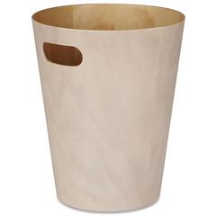 Корзина для мусора Woodrow кремовая-дерево Umbra 082780-668