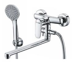 Vils 5602L Смеситель для ванны с длинным изливом WasserKRAFT Серия Vils 5600