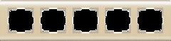 Рамка на 5 постов  (шампань) WL12-Frame-05 Werkel