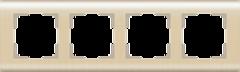 Рамка на 4 поста  (шампань) WL12-Frame-04 Werkel