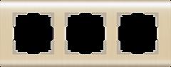 Рамка на 3 поста  (шампань) WL12-Frame-03 Werkel