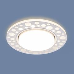 Встраиваемый точечный светильник с LED подсветкой 3032 GX53 WH белый Elektrostandard