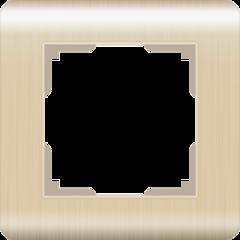 Рамка на 1 пост (шампань) WL12-Frame-01 Werkel