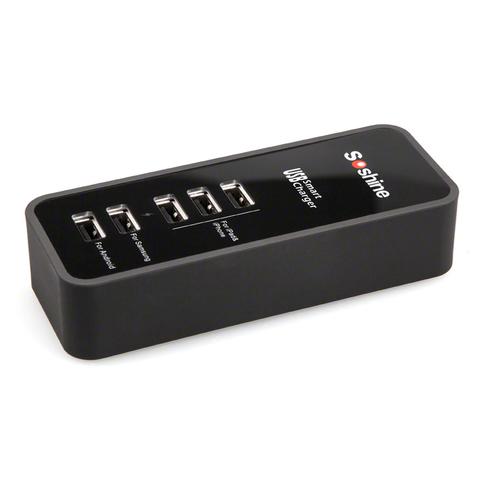 Сетевой адаптер 5*USB 30Вт Soshine USB05