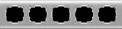 Рамка на 5 постов  (серебряный) WL12-Frame-05 Werkel
