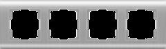 Рамка на 4 поста  (серебряный) WL12-Frame-04 Werkel