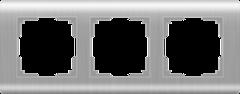 Рамка на 3 поста  (серебряный) WL12-Frame-03 Werkel