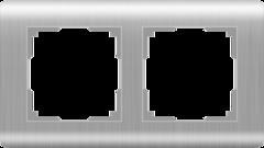 Рамка на 2 поста (серебряный) WL12-Frame-02 Werkel