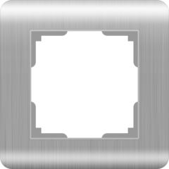 Рамка на 1 пост (серебряный) WL12-Frame-01 Werkel
