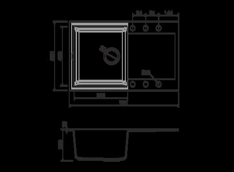 Кухонная мойка из искусственного гранита (Tetogranit) OMOIKIRI Sakaime 79-DC (4993280)