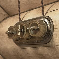 Переключатель одноклавишный (Бронзовый) ретро WL19-01-03 Werkel