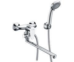 Leine 3502L Смеситель для ванны с длинным изливом WasserKRAFT Серия Leine 3500