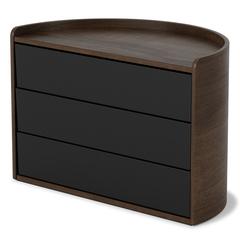 Шкатулка для украшений Umbra MOONA черная-орех 1014748-048