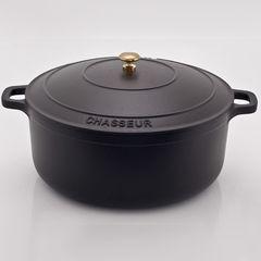 Кастрюля чугунная 28см (6,3л) CHASSEUR Black (цвет: чёрный) арт. 3728 (2810)