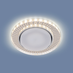 Встраиваемый точечный светильник с LED подсветкой 3033 GX53 CL/SL прозрачный/серебро Elektrostandard