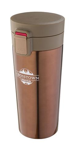 Термокружка Biostal Crosstown (0,4 литра) шоколадная